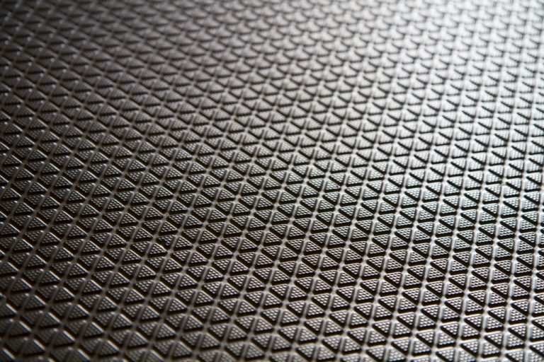 Black rubber mat closeup