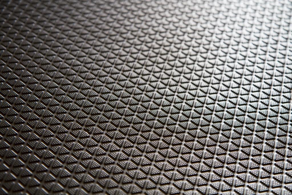 Black rubber mat closeup