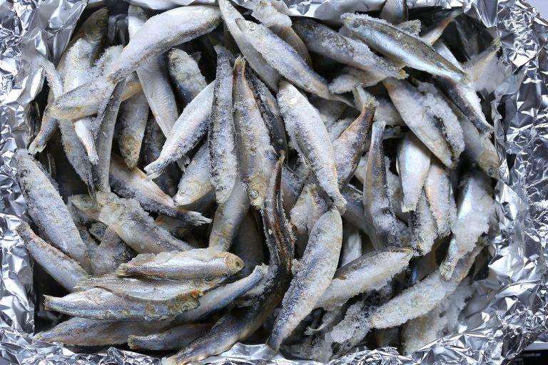 Frozen fish to preserve freshness