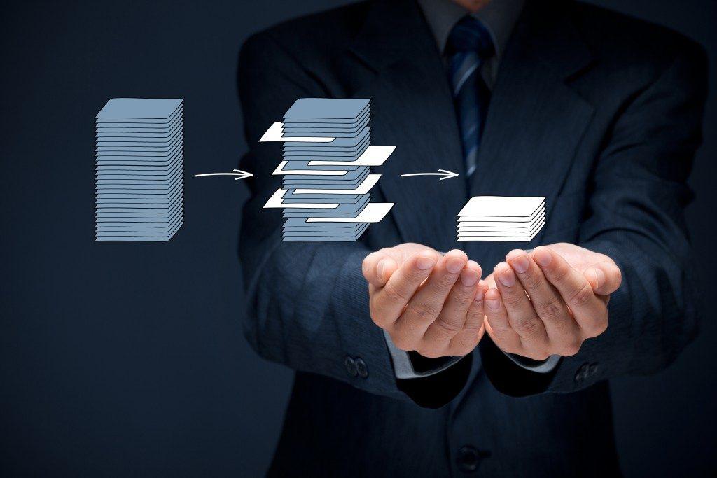 Company data storage concept