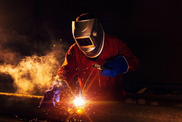 welder working on the site